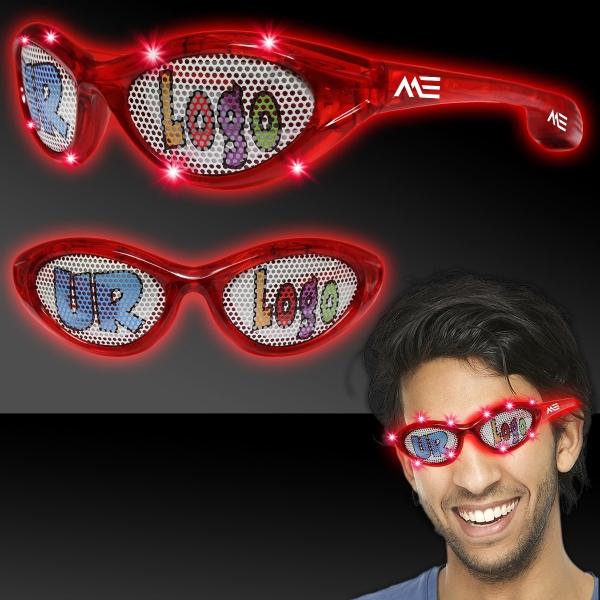 Red Custom LED Billboard Sunglasses