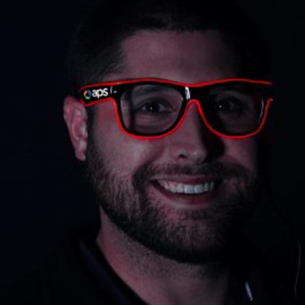 Red LED EL Sunglasses