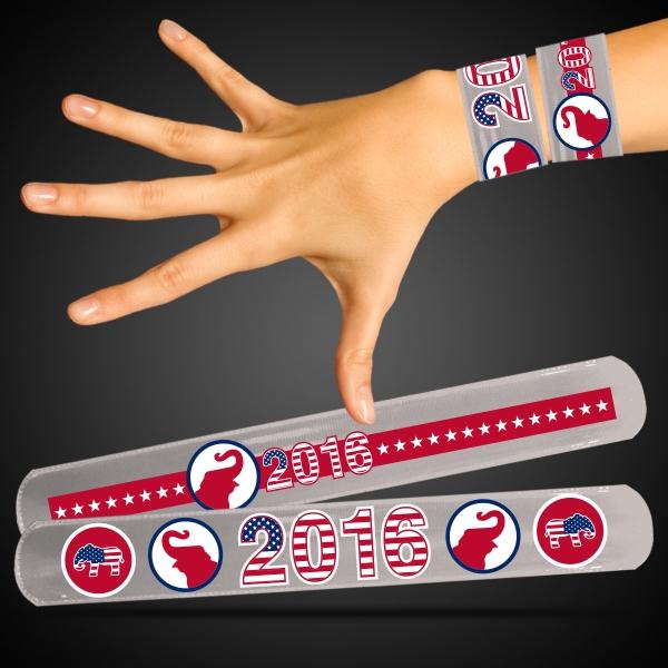Republican Patriotic Slap Bracelets