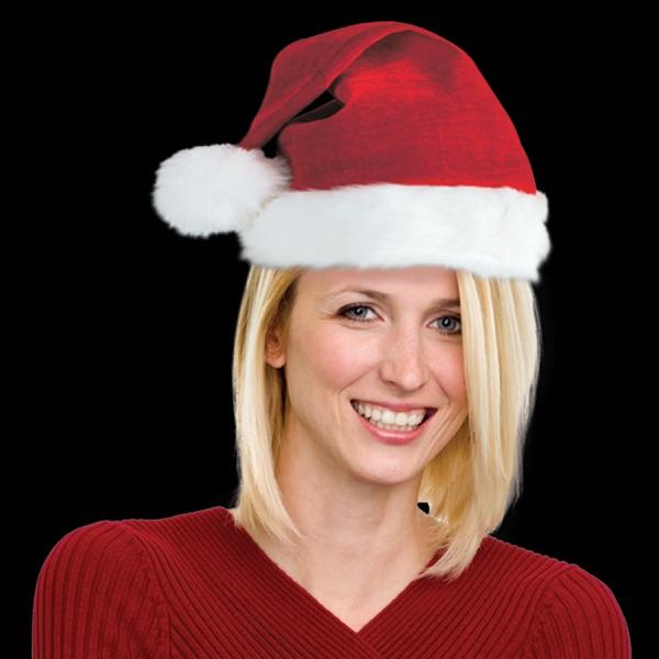 Santa Claus Costume Deluxe Plush Hat