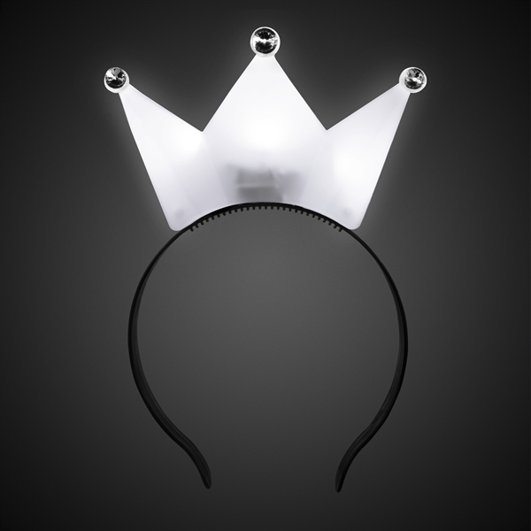 White LED Crown Headband