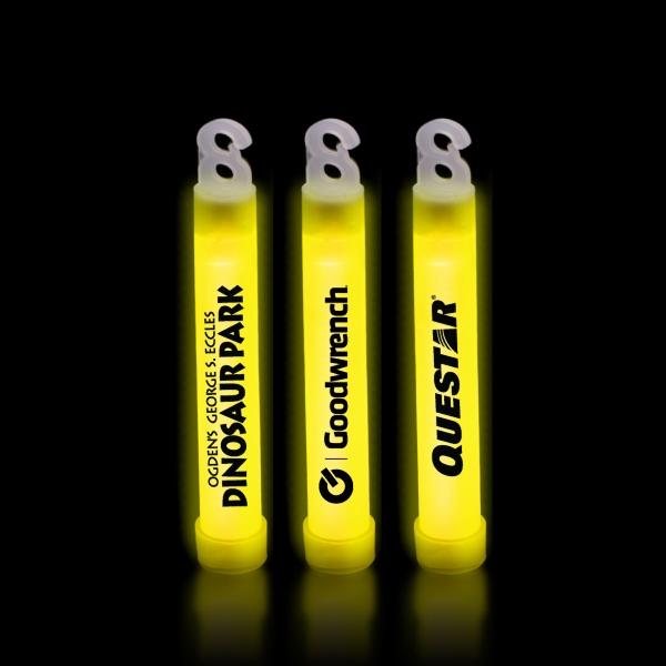 "Yellow 4"" Premium Glow Light Stick"