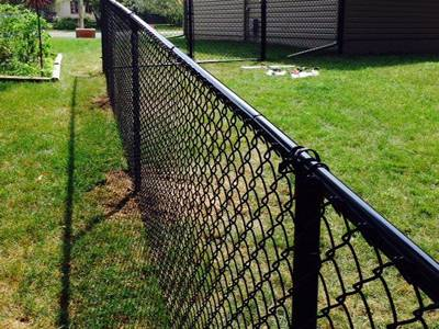 Galvanized Chain Link Mesh Fence PVC Coating W// Posts /& Hardware Green Silver