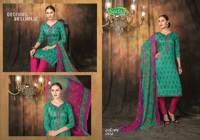 bbe19fae35 sadaa colors glace cotton printed dupatta suit Manufacturer in ...