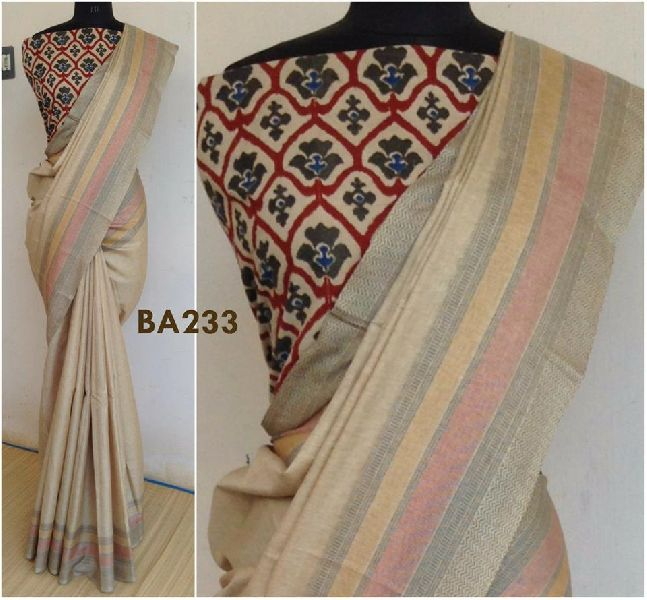 a763748139b1f bhagalpuri silk cotton sarees with kalamkari blouse Manufacturer in ...