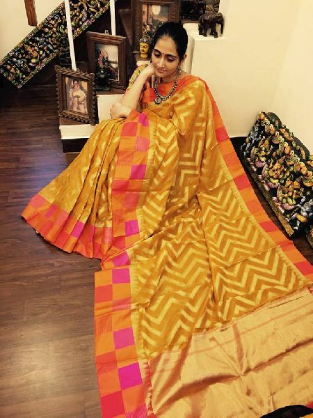 9a86eb6e6d chanderi silk cotton sarees with blouse Manufacturer in Bihar India ...