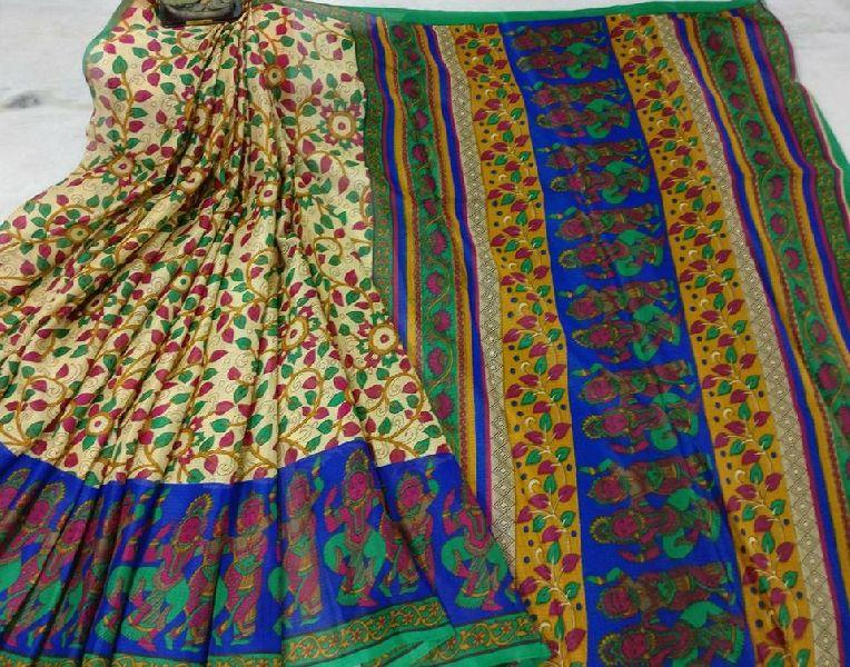 42fc50097a9db pochampally printed manipuri kota silk sarees Manufacturer in Bihar ...