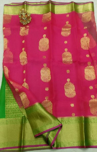 2bb1e4578b latest kanchi organza sarees Manufacturer in Bihar India by petals ...
