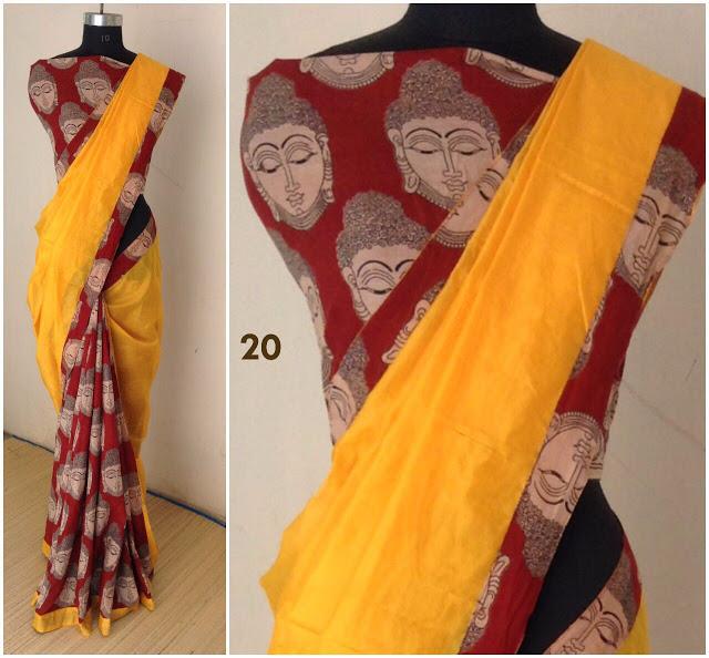 3a7415cea7eff chanderi kalamkari sarees Manufacturer in Tamil Nadu India by indigo ...