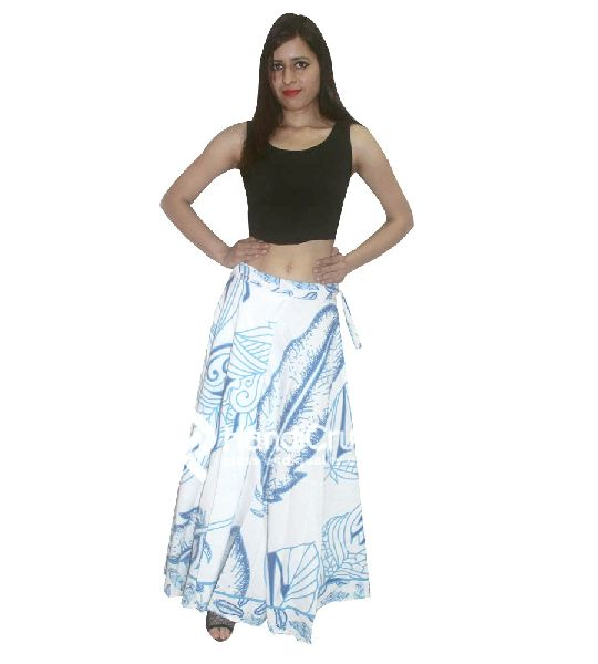 c2ff5501e3 Women cotton blue floral rapron skirt Manufacturer in Rajasthan ...