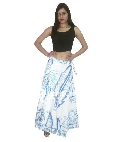 2e24f00d71 Women cotton blue floral rapron skirt Manufacturer in Rajasthan ...