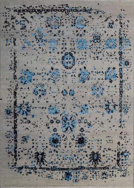 Affordable Handmade Best Bamboo Wool Silk Rug (UDBMS520)