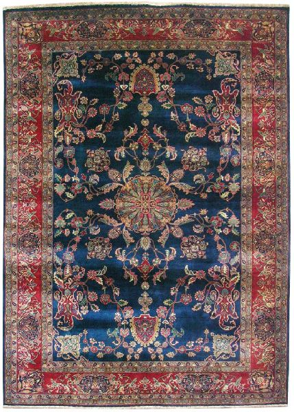 Hand-Knotted Wool Antique Wool Rugs (UDANT534)