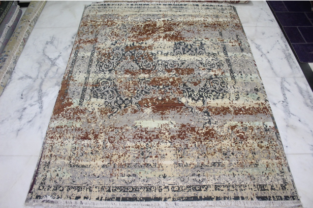 Durable Hand Made Cut Pile Wool Rugs (UDWOO534)