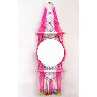 Handmade Macrame Decorative Mirror Manufacturer In Bihar India By Tanvee Handicraft Store Id 3178090