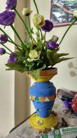 Handmade paper flower pots manufacturer in bihar india by tanvee handmade paper flower pots mightylinksfo