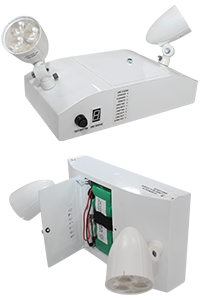 Compact Steel LED Emergency Lighting with Tool-less Battery Access