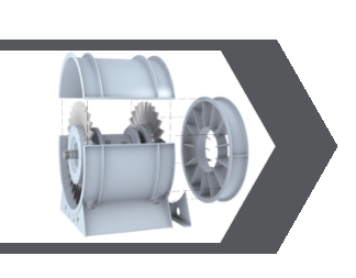 TWO STAGE AXIAL FANS