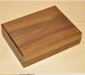 Walnut Double Playing Card Box