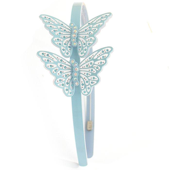 Butterfly rhinestone acrylic headband