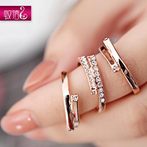 GEOMETRIC GIRLS DIAMOND RING