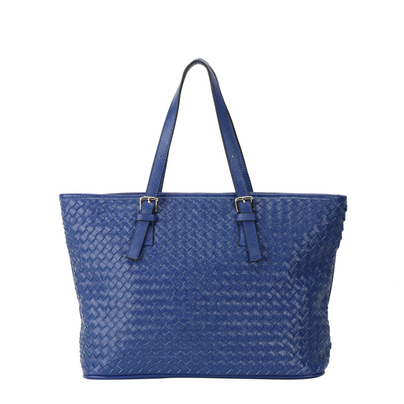 leather braided shoulder handbag