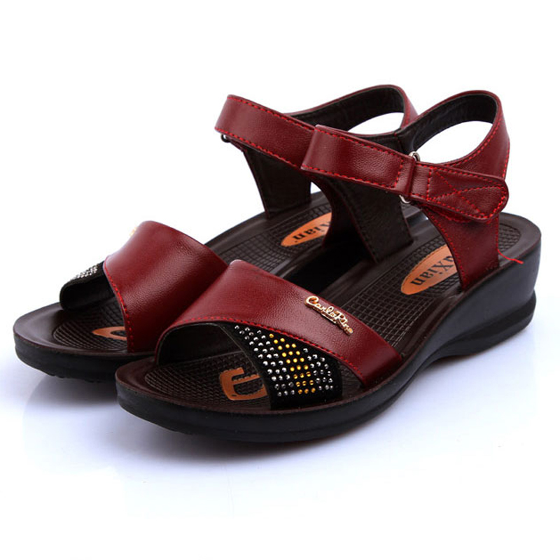 LEATHER SANDALS SHOES WOMEN