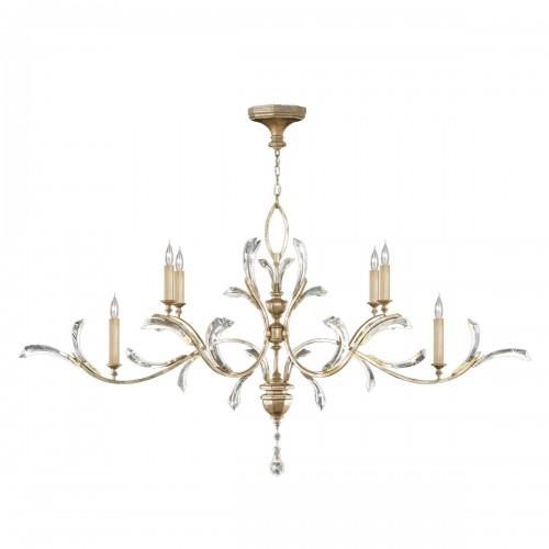 BEVELED ARCS Oblong chandelier