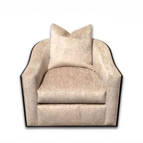 Caiden Wood Trim Swivel Chair
