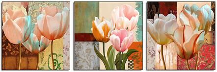 Lavender Tulips Flower Print Poster Canvas Wall Art