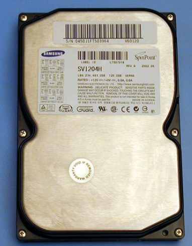 ATA IDE 120GB 5400RPM SAMSUNG SV1204H Hard Disk Drive