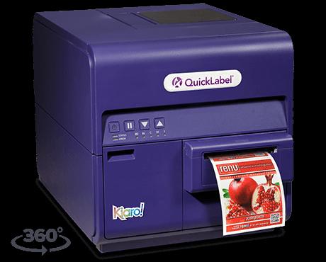 Kiaro inkjet color label printer
