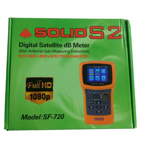 Solid Sf 720 Rechargeable Digital Satellite Db Meter With