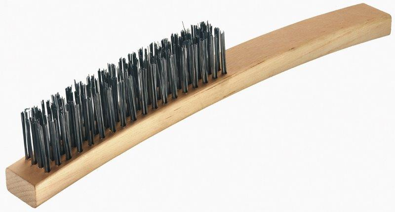 Four Row Stainless Steel Wire Brush