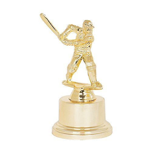 Gold Plated Cricket Trophy