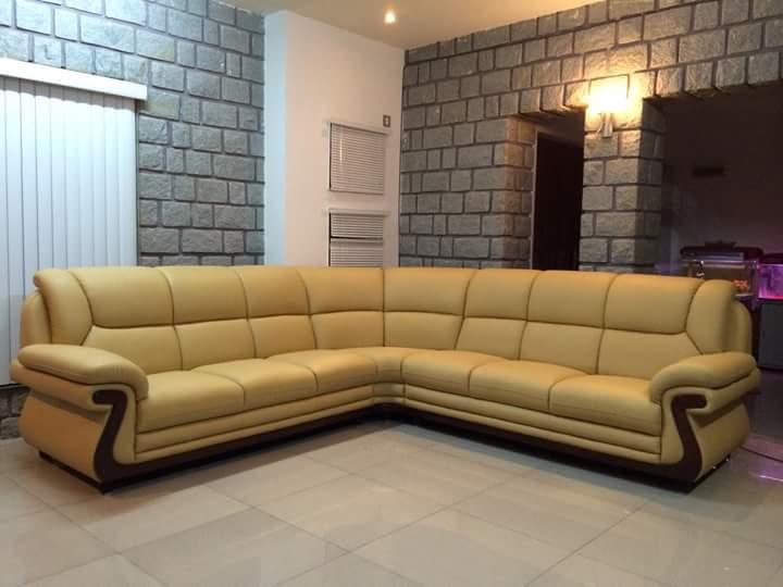 leatherete sofa