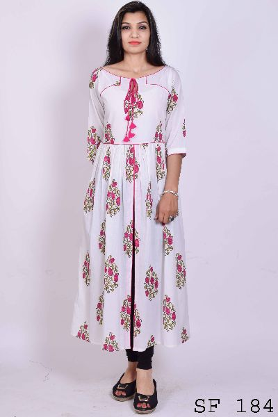Full maxi dress in block print Manufacturer in Rajasthan India by ...