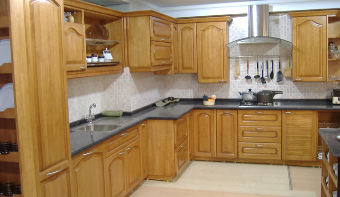rubber wood modular kitchen Manufacturer in West Bengal India by ...