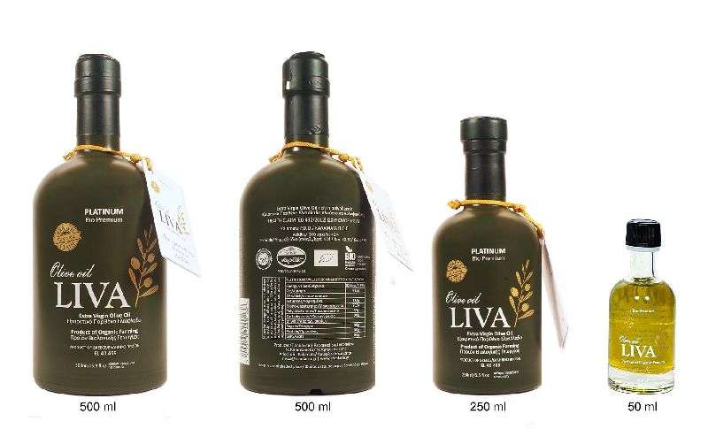 LIVA PLATINUM - Health Claim certified - Extra virgin - Organic - Olive Oil - KALAMATA PDO