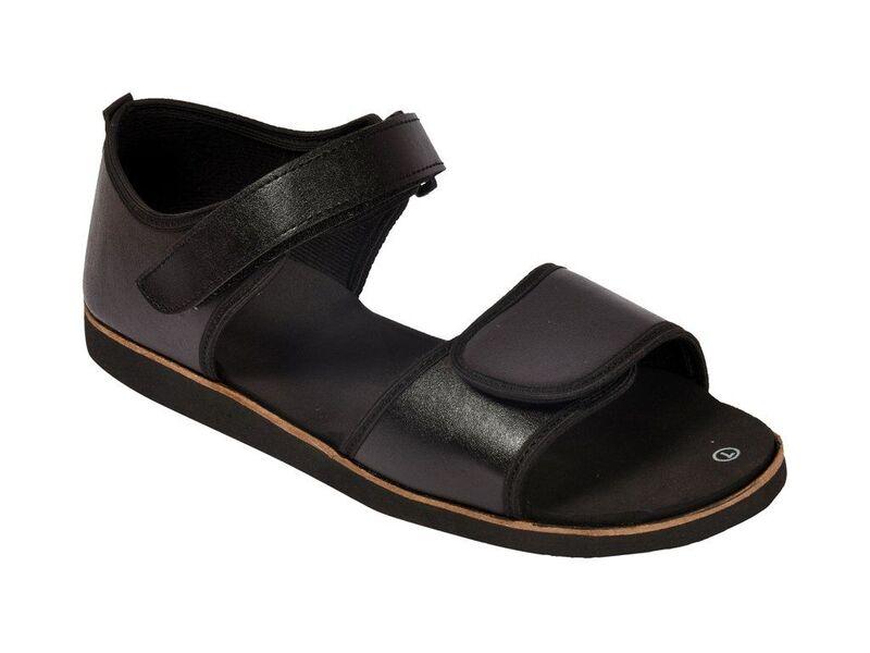 816b09f99fb Mens Dia Foot Black Diabetic   Orthopedic MCP Sandal Wholesale ...
