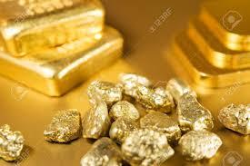 Gold Dust, Gold Bar, Gold Ingots