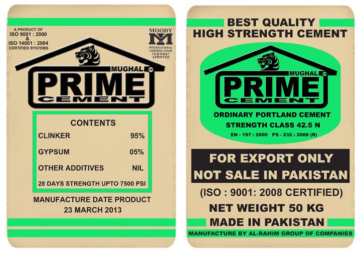 Opc Cement 42 5 Manufacturer in sindh Pakistan by Al-rahim