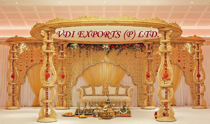 Wooden Look Fiber Wedding Mandap Manufacturer Amp Exporters