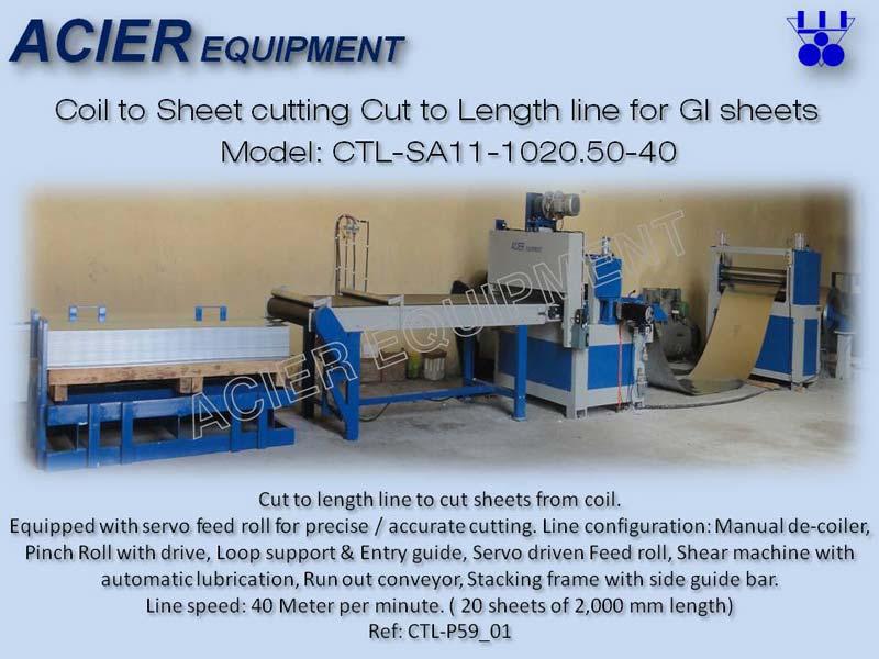 Semi Automatic Cut To Length Line Machine (CTL-SA11)