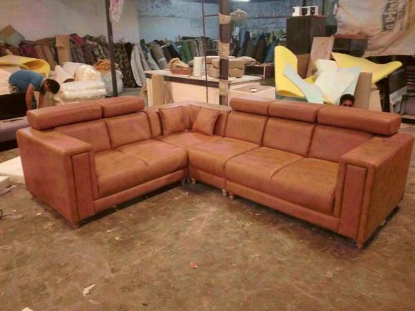 Buy genuine leather sofa from Akshar furniture, India | ID ...
