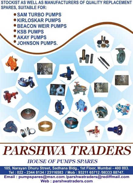 Buy Kirloskar Pump Spares from Parshwa Traders, Mumbai