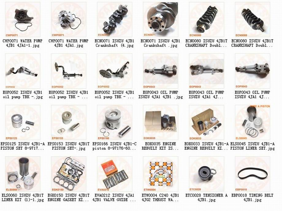 Tcm 4jb1 4ja1 Engine Parts Manufacturer