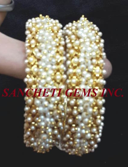 Buy Pearl Bangle From Sancheti Gems Inc New Delhi India Id