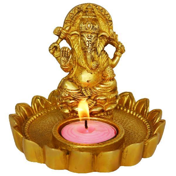 Decorative Statue of Lord Ganesh with diya
