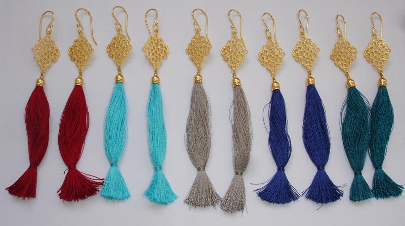 Silk Thread Tassel Earrings Manufacturer In Jaipur